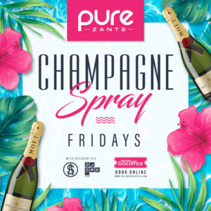 Champagne Spray at Pure